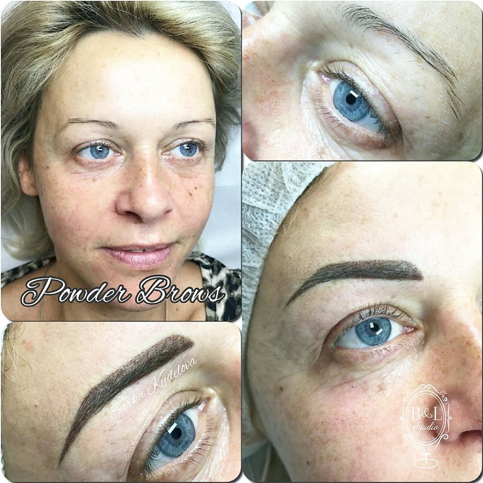 Permanentní make-up: powder brows