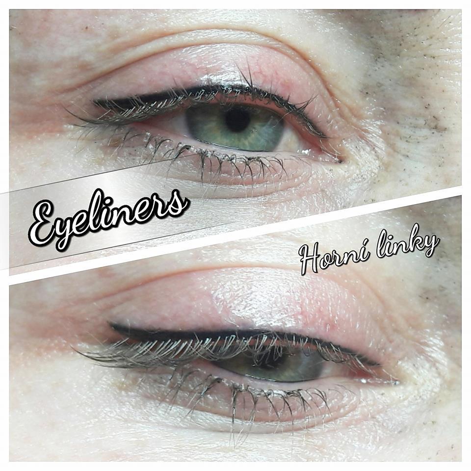 Permanentní make-up: horní linky